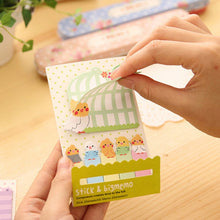 Load image into Gallery viewer, Kawaii Animal Sticky Notes And Index Set - 4pcs -paperhouse