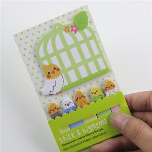 Kawaii Animal Sticky Notes And Index Set - 4pcs -paperhouse