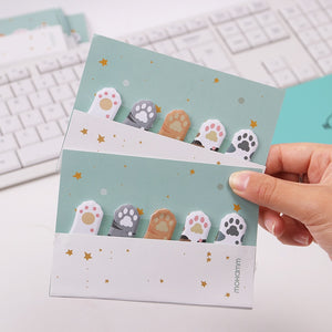 Mini Cat Paw Sticky Notes-3pcs -paperhouse
