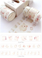 Load image into Gallery viewer, Whale Washi Tape - 5m *3 pcs/lot