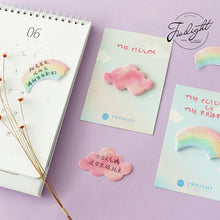 Load image into Gallery viewer, Rainbow and Cloud Sticky Notes-4pcs -paperhouse