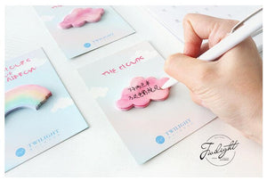 Rainbow and Cloud Sticky Notes-4pcs -paperhouse