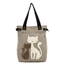 Load image into Gallery viewer, Cute Cat Canvas Bag