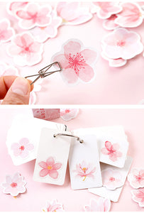 Cherry Pink Sakura Stickers-45 Pcs -paperhouse
