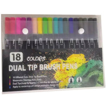 Load image into Gallery viewer, Double Sided Fine Liner&Brush Pen-12/18/24/48/72/100 colors