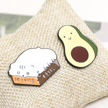 Load image into Gallery viewer, 🥈2019 New Enamel Avocado&Cat Cute Pin/Badge -2 pcs