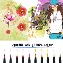 Load image into Gallery viewer, Watercolour Brush Pens Set 20 -paperhouse