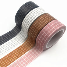 Load image into Gallery viewer, 4 Colors Grid Washi Tape- 10m *2 Pcs