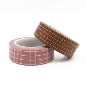 4 Colors Grid Washi Tape- 10m *2 Pcs