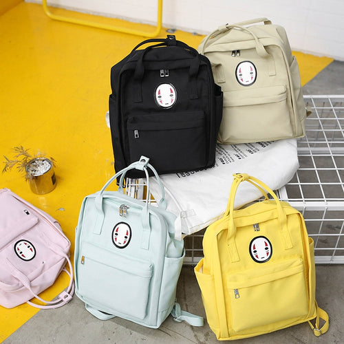 Kawaii Face Pastel Backpack