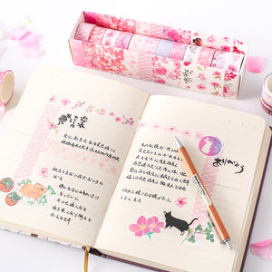 Flower Washi Tape - 6/12 pcs/lot