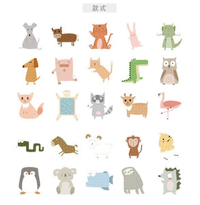 Japanese Cute Animal Sticker-50 Pcs -paperhouse