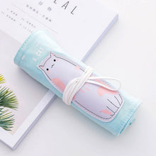 Load image into Gallery viewer, Unicorn Canvas Roll Up Pencil Case -paperhouse