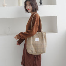 Load image into Gallery viewer, 'Attitude' Corduroy Tote Bag -paperhouse