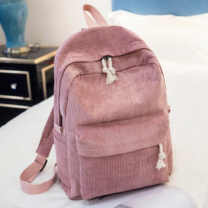 Corduroy Fashion Backpack -paperhouse