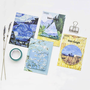 Van Gogh Sticky Notes - 4pcs