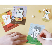 Load image into Gallery viewer, Friendly Pets Sticky Notes-4pcs -paperhouse
