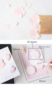 Sakura Flower Sticky Notes - Set Of 4 -paperhouse