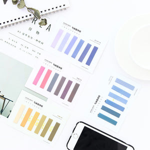 Colour Gradient Memo Pad Stickers-4pcs -paperhouse