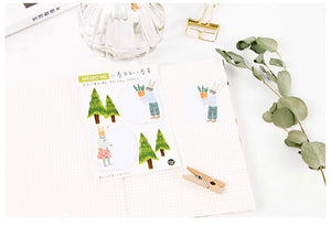 Four Seasons Friends Sticky Notes - 4pcs -paperhouse