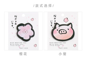 Sakura Piggy Sticky Notes - 4pcs -paperhouse