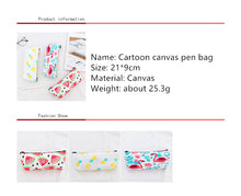 Load image into Gallery viewer, Flamingo Fruit Canvas Pencil Case -paperhouse