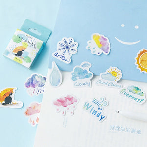 Good And Bad Weather Feeling Sticker-46 Pcs -paperhouse