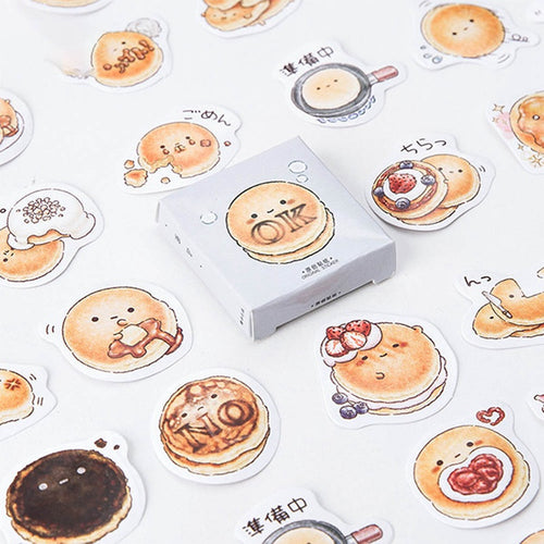 Cute Round Delicous Bread Stickers-45 Pcs -paperhouse