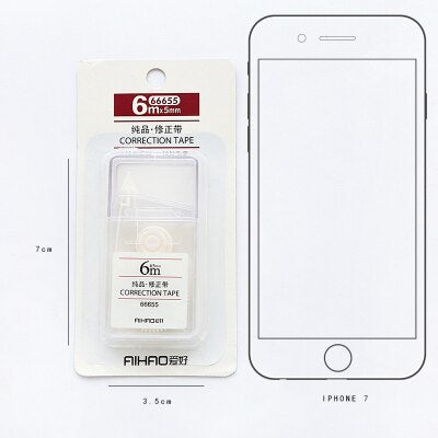 Simple Transparent Muji Style Correction Tape 6m