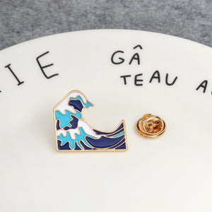 Great Wave Enamel Pin