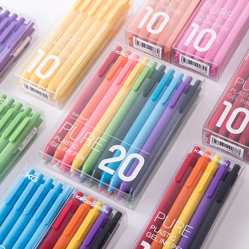 Coloring Gel Pen Set-Black/Colored Ink-10/20pcs