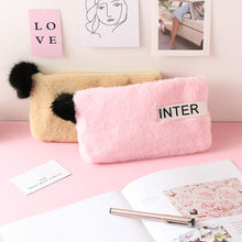 Load image into Gallery viewer, Cute Women Plush Pencil Case