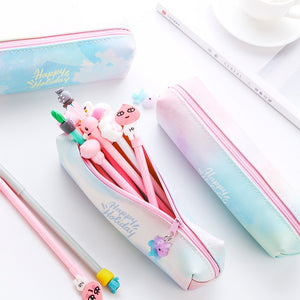 Kawaii Watercolor Pencil Case