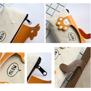 Cartoon Cats Paw Pencil Case