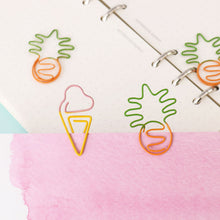 Load image into Gallery viewer, Ice Cream Metal Paper Clip - 10pcs/Set
