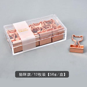 Love Rose Gold Bill Clip - 12pcs/box