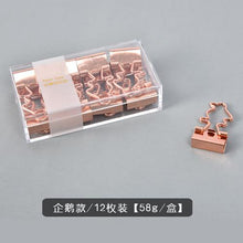 Load image into Gallery viewer, Love Rose Gold Bill Clip - 12pcs/box