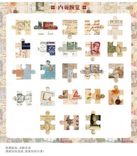 Load image into Gallery viewer, Retro Jigsaw Stickers - 46pcs/box