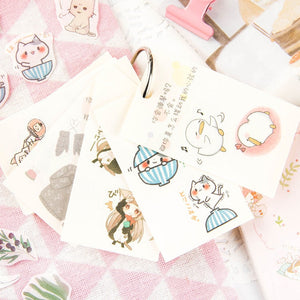 Cute Institute Series Stickers - 30 Pcs