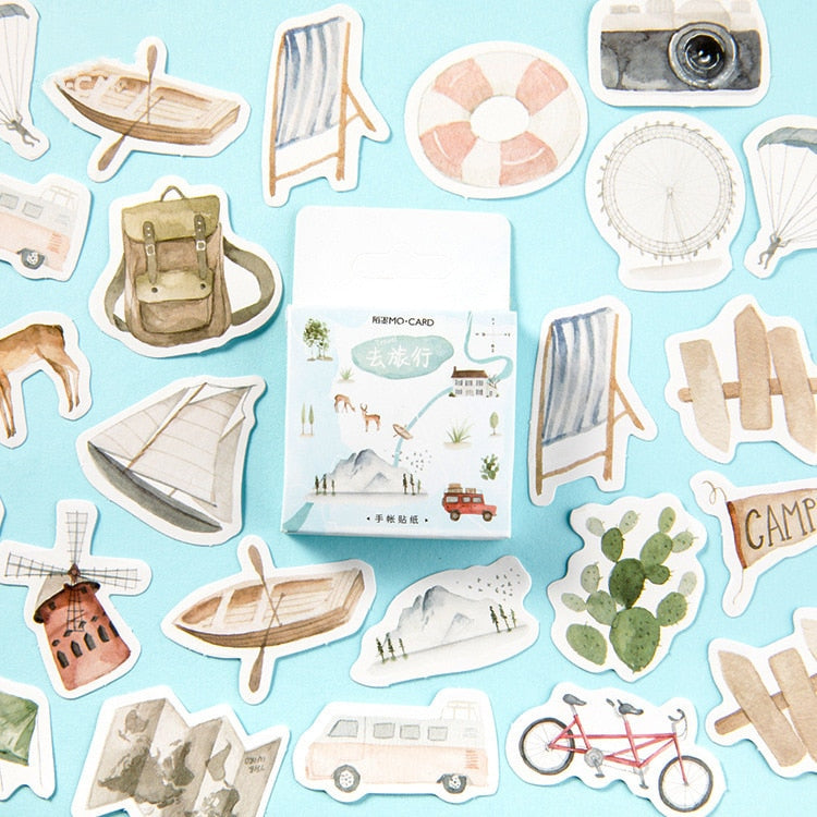 Travel Series Stickers - 46pcs/box
