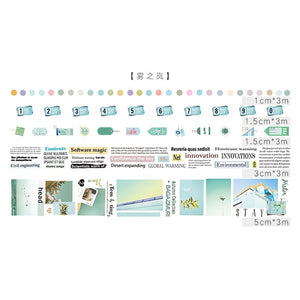 Simple Small Series Japanese Washi Tape - 5pcs/lot