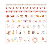 Load image into Gallery viewer, Decorative Paper Washi Tape - 2m *8 pcs/lot