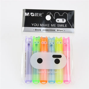 Mini Rainbow Highlighter Pen - 6pcs/lot