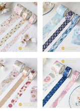 Load image into Gallery viewer, Japanese Foil Washi Tape - 3m *3 pcs