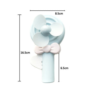 Manual Hand Press Lollipop Fan-No Battery