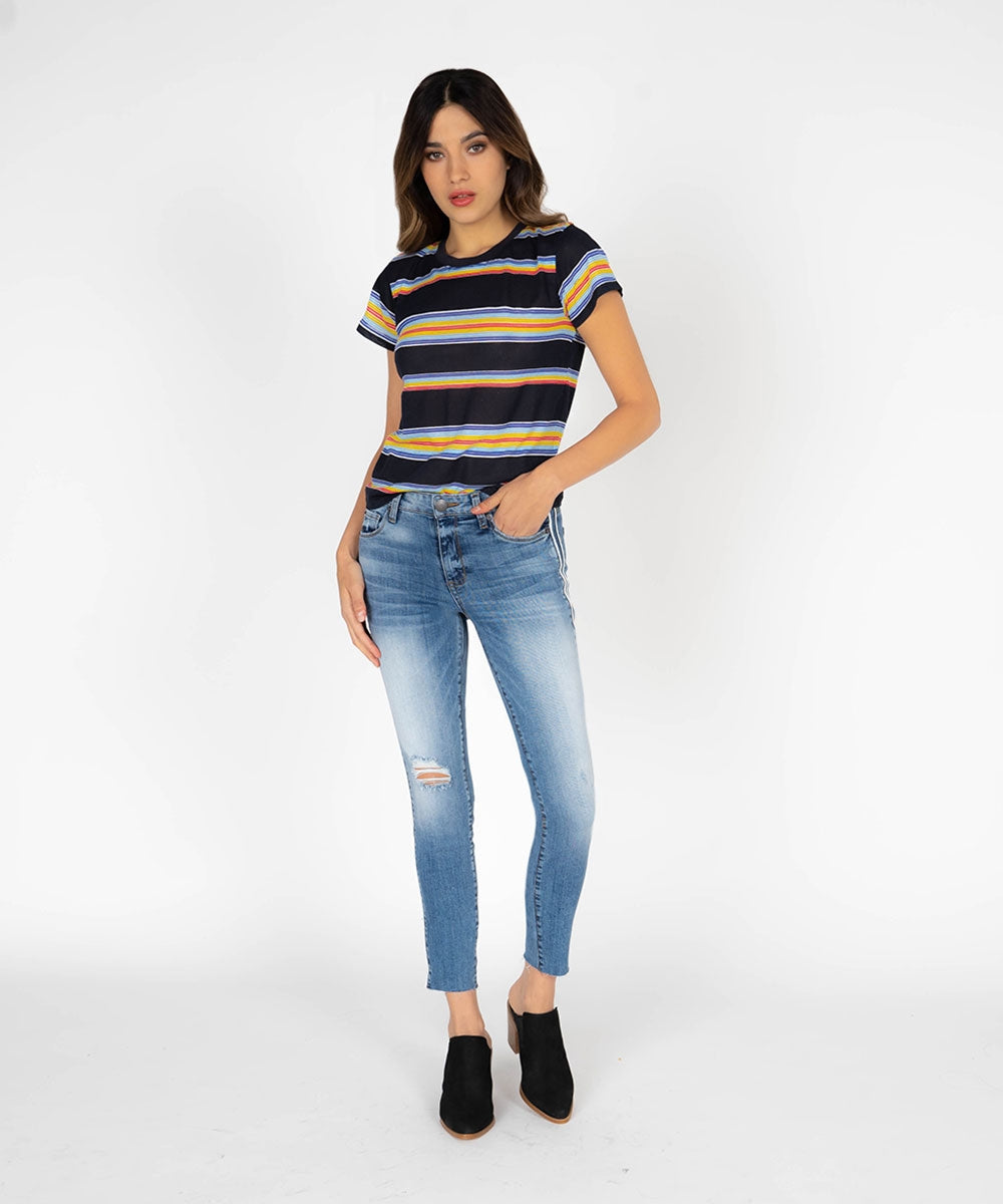 Emma Slim Fit Crop (Moss Opal Wash)