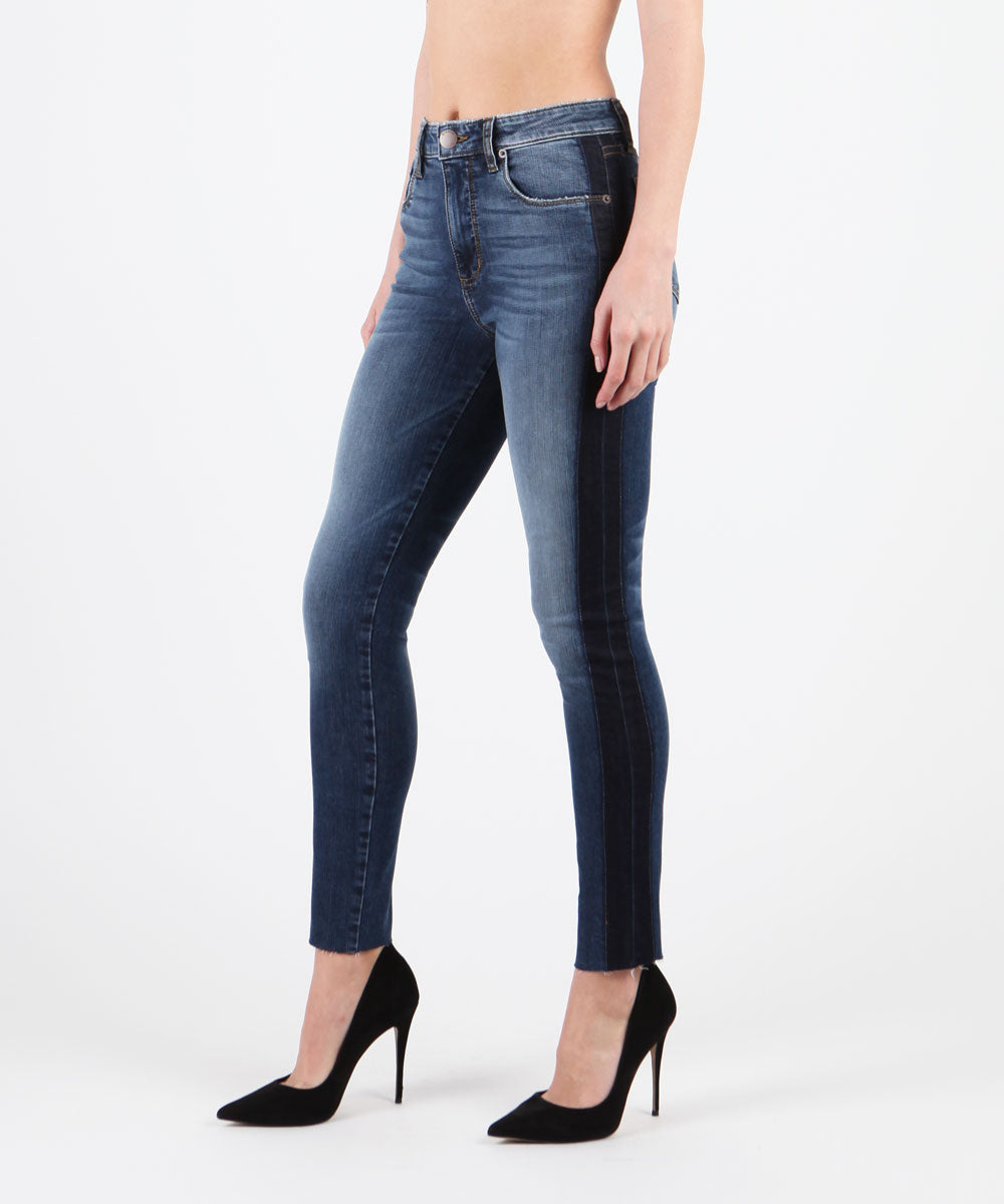 Ashley Color Block High Rise Skinny (TREMONT WASH)