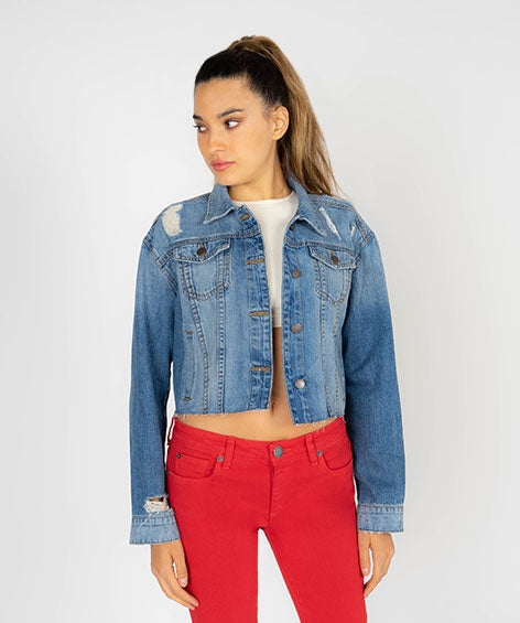 Miley Cropped Boyfriend Jacket
