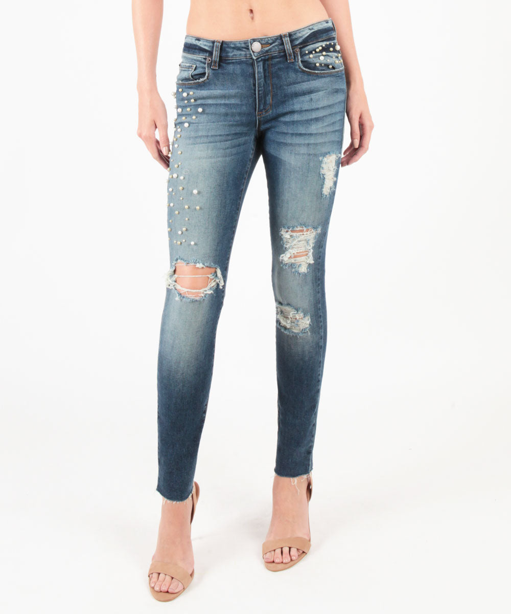Piper Pearl Detailed Ankle Skinny (Longworth Wash)