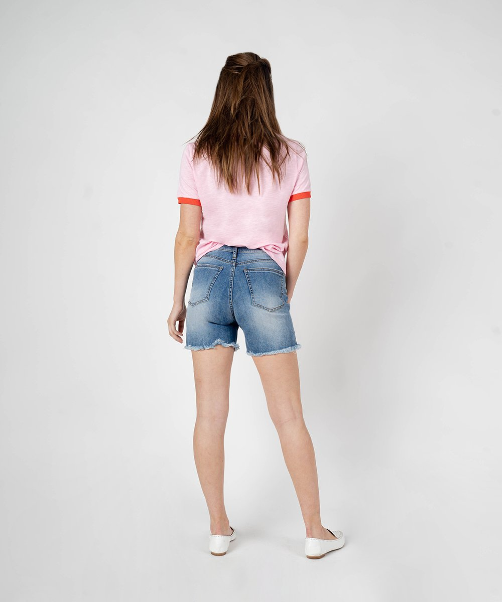 Alicia High Rise Bermuda Short (Ashvale Wash)